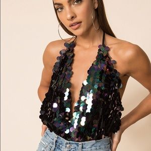 Superdown Priscilla Sequin Bodysuit